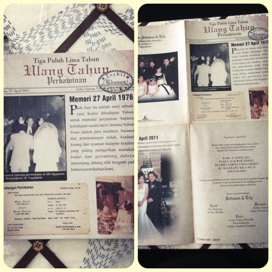Undangan Pernikahan Oldies Jogja Rapi Dan