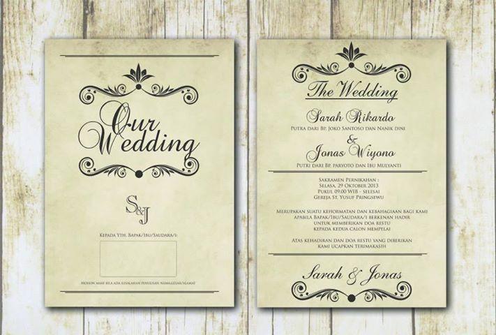 Undangan Pernikahan Vintage 08122963585 Undangan
